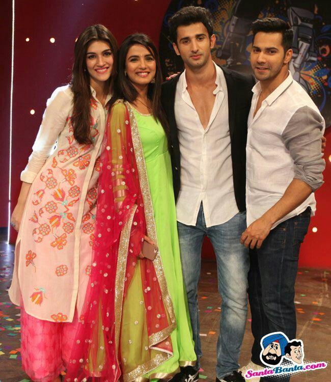 Jasmin bhasin with Varun and Kriti