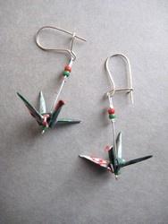 Boucles d'oreilles origami diy