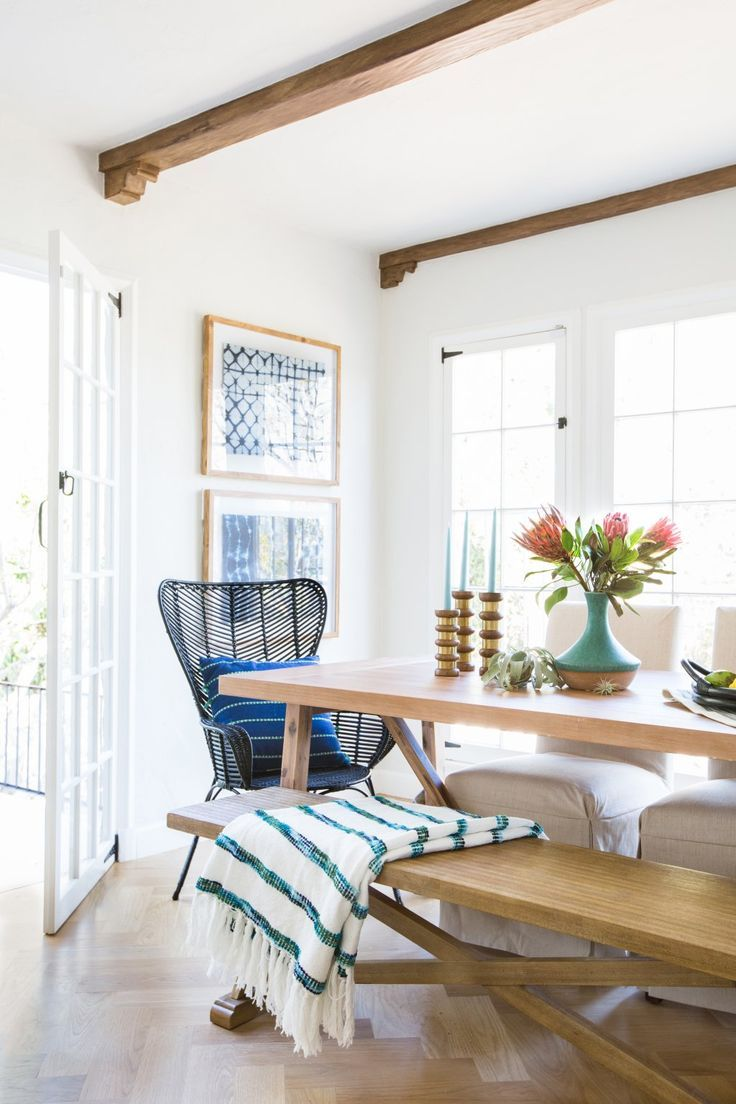 Fresh flowers add a splash of colour to this dining space from houzz - 1537 Best Ideal Dahl Houzz Images On Pinterest Haciendas Kitchen And Dream Kitchens