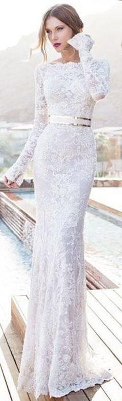 The Millionairess of Pennsylvania....Julie Vino § white lace gown