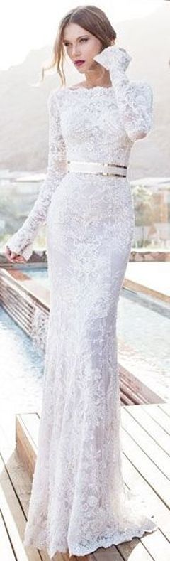 17 Best ideas about White Lace Gown on Pinterest | Vintage gowns ...