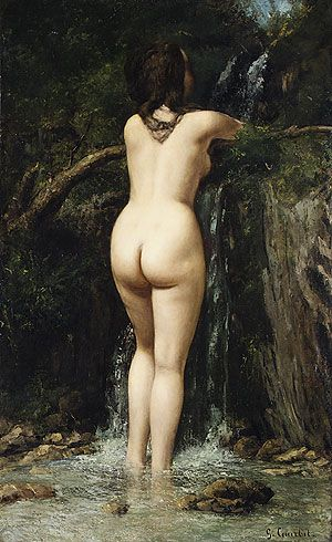 Gustave Courbet - The Source [1862]  *This looks just like my butt, in case any of you were trying to picture it*