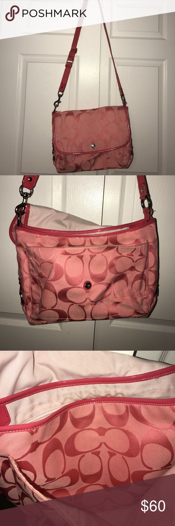 """Pink COACH Messenger Bag Pink COACH Messenger Bag 