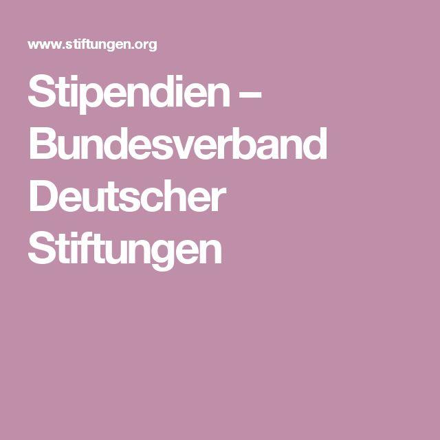 Stipendien – Bundesverband Deutscher Stiftungen