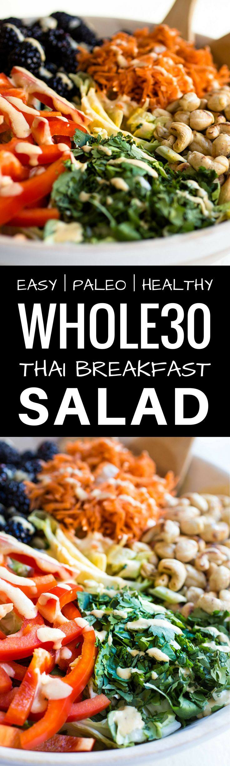 Whole30 Thai Breakfast Bowl Recipe. Whole30 salad…