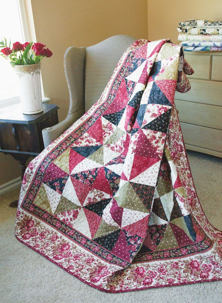 Tapestry Classic Patchwork Lap Quilt Pattern Designed By