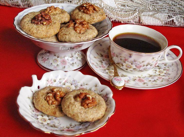 кофейные пирожные c грецкими орехами