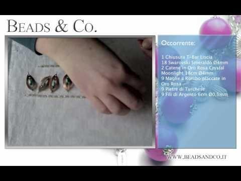 """Tutorial per creare bracciale in Oro Rosa, pietre di Turchese. Visita la il nostro sito http://www.beadsandco.it alla sezione """"Idee Kit"""" e scopri quanto è semplice fare un vero gioiello """"fai da te"""". Lezione 21"""