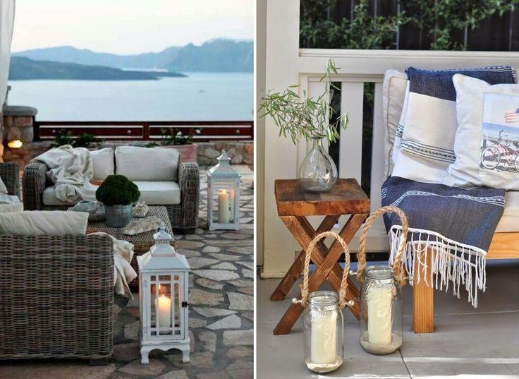 Decoraci n de terrazas con velas terrazas patios y for Adornos para terrazas y patios