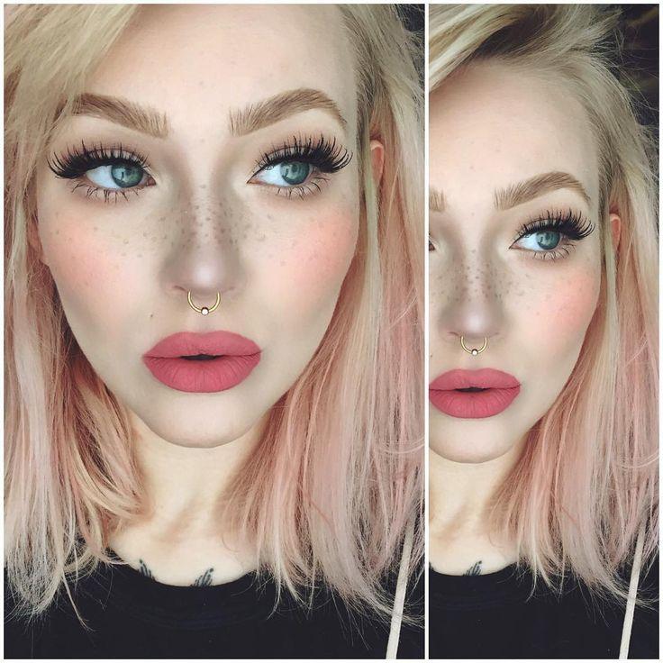 fresh makeup: bushy brows, freckles, flushed cheeks @itslikelymakeup