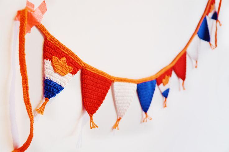 Maak je huis compleet met deze leuke Koningsvlaggen - Gratis patroon - Wolplein.nl