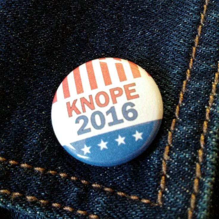 "Knope 2016 1"" button Parks and Rec by MyFatherWasAWolf on Etsy https://www.etsy.com/listing/251201270/knope-2016-1-button-parks-and-rec"