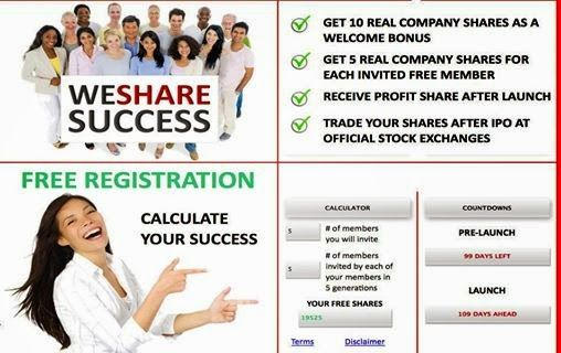 We Share Success Inc: РЕДКАЯ ВОЗМОЖНОСТЬ ДЛЯ ВАС БЕСПЛАТНО СТАТЬ АКЦИОНЕ...
