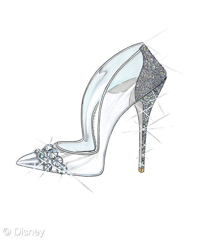 A few weeks ago famous designers revealed their ideas for Cinderella's shoes. Here's the one from Paul Andrew