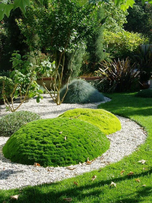 Pruned Evergreens Are Great But Little Hills With Groundcover Plants Are  More Creative.
