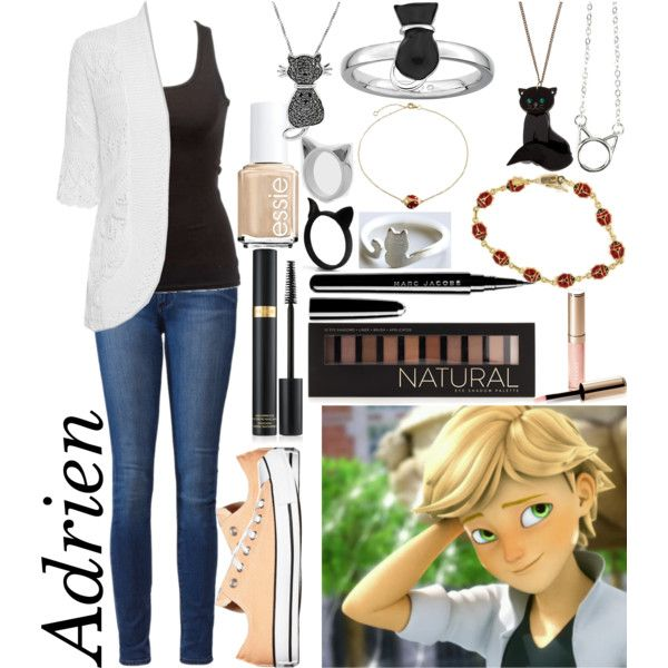 Adrien Agreste: Miraculous Ladybug by ender-chic52 on Polyvore featuring WearAll, Paige Denim, Converse, Tatty Devine, Meadowlark, Jewel Exclusive, Bling Jewelry, Forever 21, Tom Ford and Marc Jacobs
