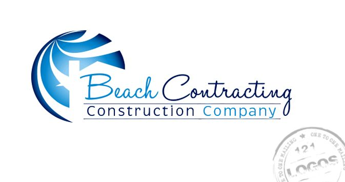 Logo designed for a contractor that lives by a lake and wanted to capture the feeling of the water.