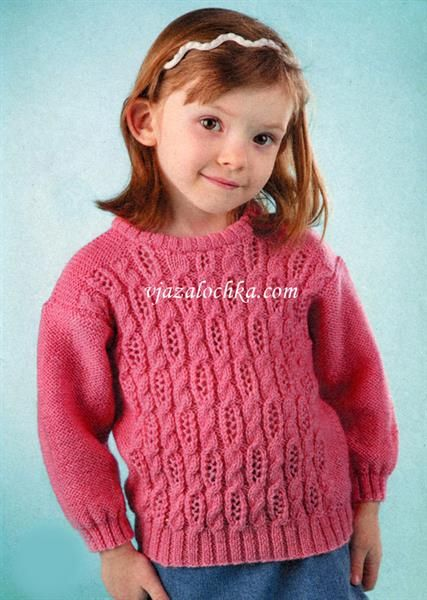 Вязание свитер девочку