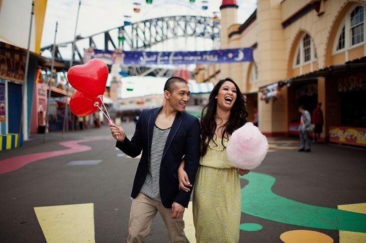 Engagement Photography Luna Park Sydney. Image: Cavanagh Photography http://cavanaghphotography.com.au