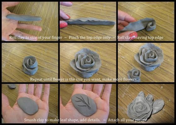 Capodimonte Inspired Clay Roses: Free Lesson Plan Download