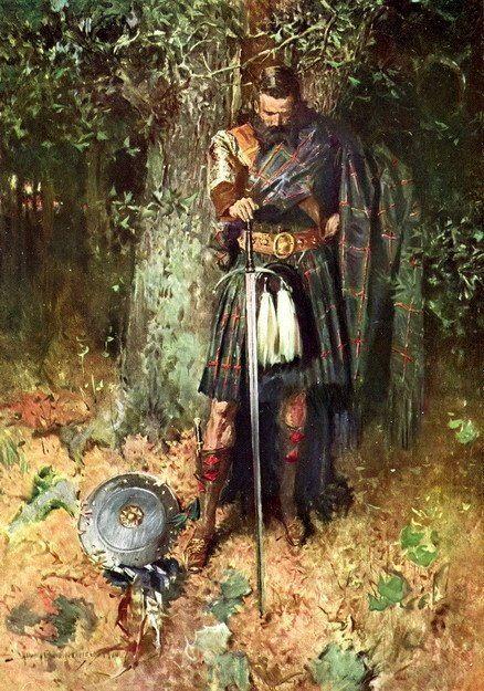 Old scottish warrior (Robert Griffing?)  kilt art man