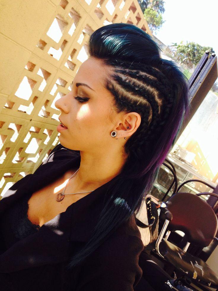 Sensational 1000 Ideas About Braided Mohawk Hairstyles On Pinterest Mohawk Short Hairstyles For Black Women Fulllsitofus