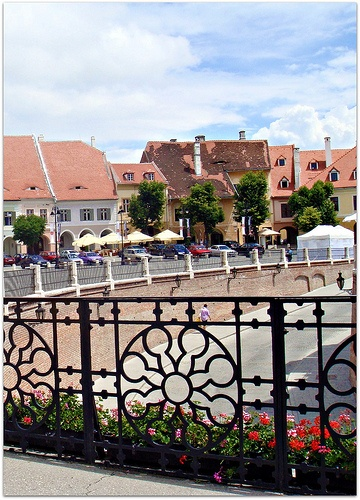 Sibiu, Romania from bridge