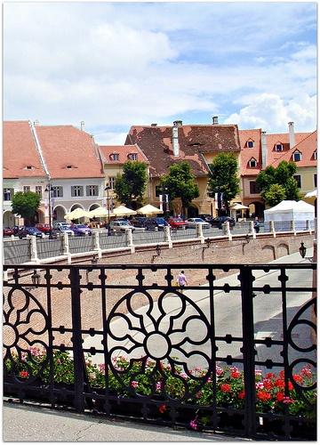 Sibiu, Romania from bridge