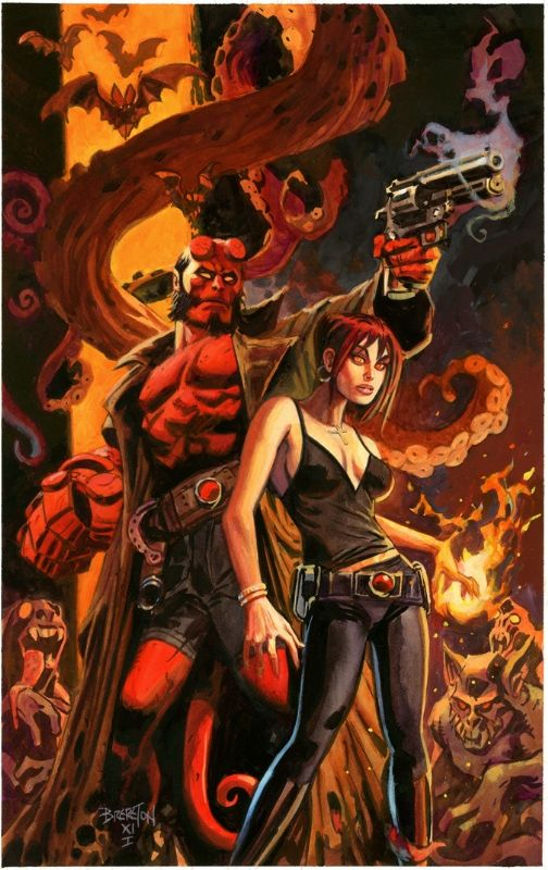 Hellboy & Liz Sherman by Dan Brereton - I know this is Dark Horse comics - but it's still Marvel-ous