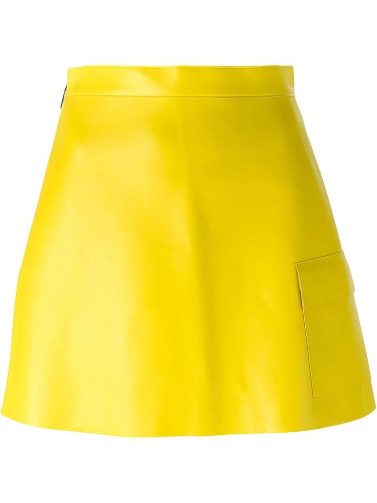 Msgm Patch Pocket Faux Leather Skirt - Tom Greyhound - Farfetch.com