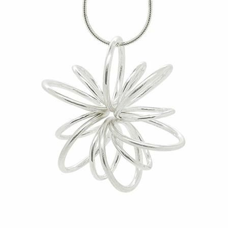 ACHICA | Maree London Lotus Necklace Statement, Silver