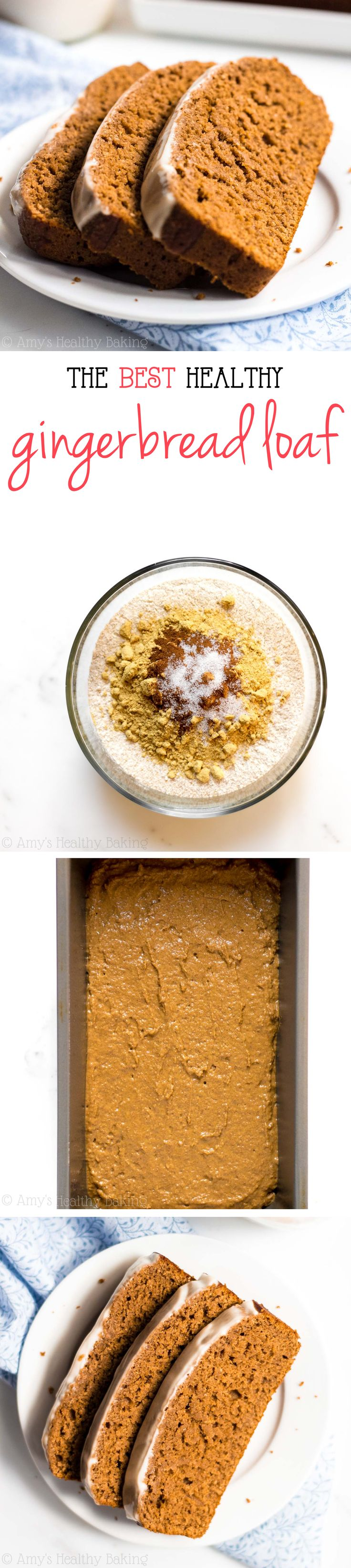 The BEST gingerbread recipe you'll ever try!! It tastes like dessert for breakfast - NOT healthy at all!
