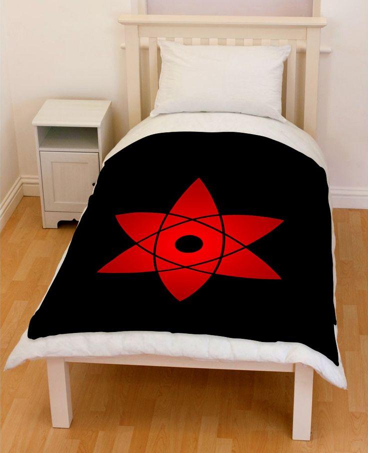 Naruto Sasuke Mangekyou Sharingan Throw Fleece Blanket // Price: $51.99  //     #creativgoods