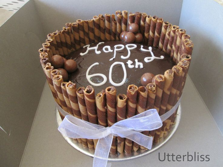 Chocolate 60th birthday cake.