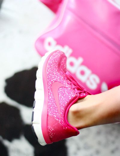 pink sparkly Nike running shoes- I should probably own these...