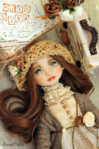 Lisa - бежевый,кукла,беж,кукла ручной работы,кукла в подарок,кукла интерьерная
