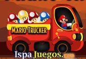 Juego de Mario Trucker | JUEGOS GRATIS: Ayuda a Mario en este Minijuego donde tendrá que manejar un camión y recolectar todos los hongos que encuentres en el camino, toma todos y no dejes volcar el truck