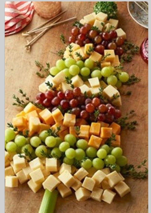 Could use any red, yellow and green fruits (strawberries, grapes, blueberries, pineapple etc)