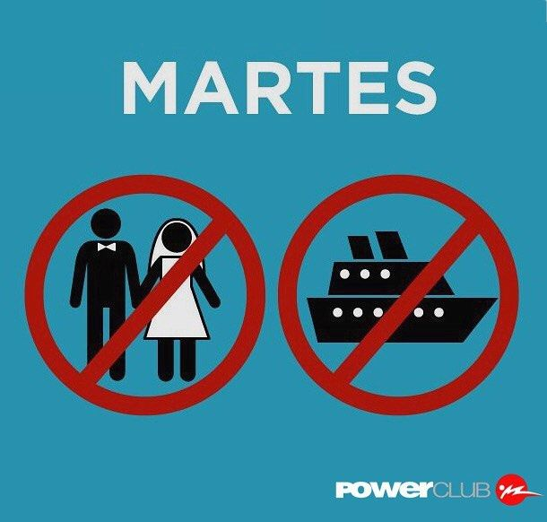 Feliz #Martes13 !! Ni te cases ni te embarques @powerclubpanama #YoEntrenoEnPowerClub
