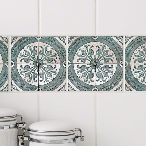 Delft Blue RETile Decal traditional-wall-decals