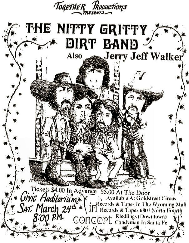 Jerry Jeff Walker By Bill Lumsden On Albuquerque Concerts And Events Of The 60s 70s 80s Nitty Gritty Memes