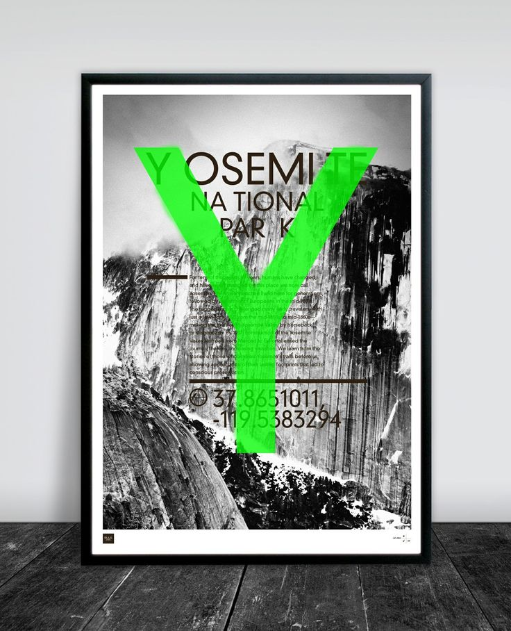 YOSEMITE 50 X 70 CM via Buus Works. Click on the image to see more!