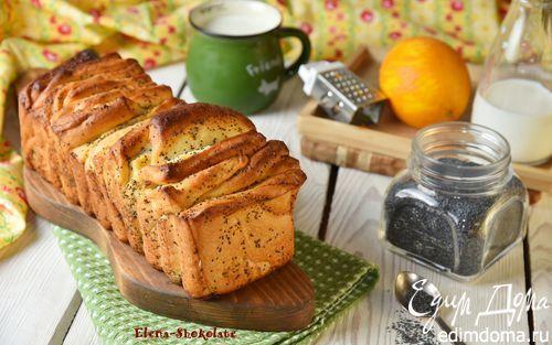 Сладкий хлеб-гармошка со сливочным сыром и маком   Кулинарные рецепты от «Едим дома!»