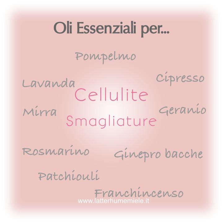 Oli essenziali per la cellulite