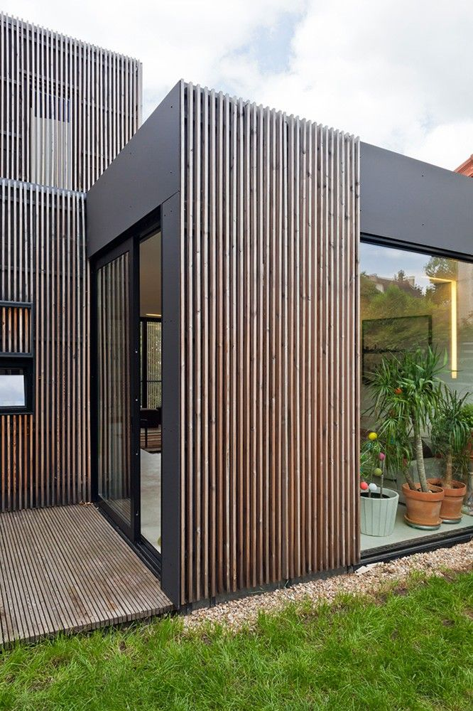 Wooden frame house / a + samuel delmas, I like the concept and use of available space.