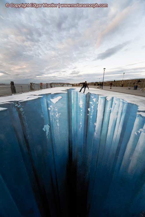 3d Street Art, often known as 3d chalk art is 2-dimensional artwork drawn on the street itself that gives you a 3-dimensional optical illusion from a certain perspective.