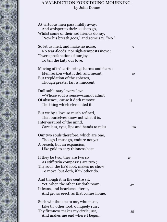 "john donne s love poems A summary of ""the flea"" in john donne's donne's poetry learn exactly what happened in this chapter, scene, or section of donne's poetry and what it means."