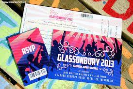 Image result for glastonbury ticket design