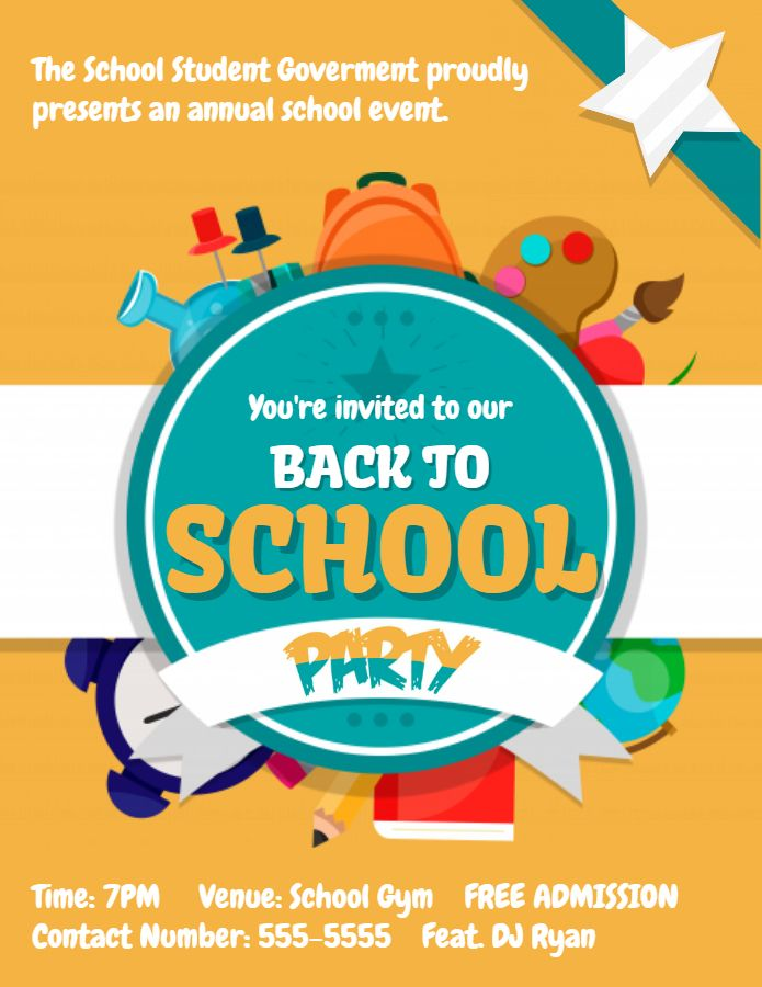 Creative Back To School Bash Flyer Template Back To School Posters