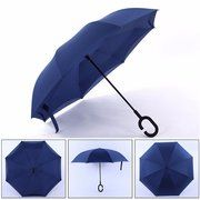 Creative Reverse Double Layer Foldable Umbrella Damp Proof wind Resistant Standing